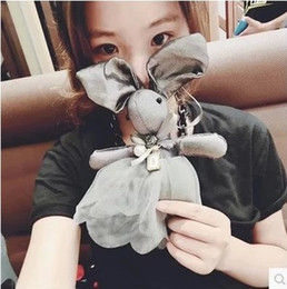 Fashion Korean Exaggerated Bowknot Necklaces Cloth Doll Rabbit Long Sweater Necklace Charms Women Necklaces Jewelry