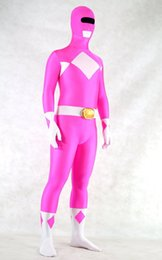 Fushia Zyuranger  Spandex Superhero Costume Halloween Cosplay Party Zentai Suit
