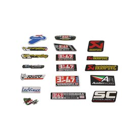 New Brand Universal Motorcycle Exhaust Pipe Label Sticker Vent Pipe Custom Decal Waterproof Glue Sticker Aluminum Mark Logo