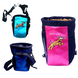 Wholesale Dog pet Training Treat Bag Feed Pouch with belt and side pockets f or Mobile Phone Dog training treat waist bait agility bag