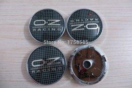 Wholesale Exterior Accessories Emblems mm Black carbon Plaid wheel cover OZ O Z Wheel Rim Cover For VW GOLF POLO CIVIC CRUZE Jetta