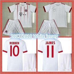 New 17 18 white soccer suit VIDAL JAMES LEWANDOWSKI MULLER adult white suit, men's jersey, print name and number