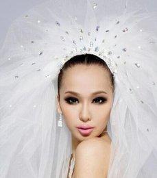 Wholesale Real Image Unique Design Hot Selling Luxury Wedding Veils High quality UK US Beautiful white Wedding Bridal Veils A6