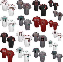 Wholesale Men s Custom Arizona Diamondbacks Paul Goldschmidt Randy Johnson Flex Base Authentic Collection Baseball Jersey stitched