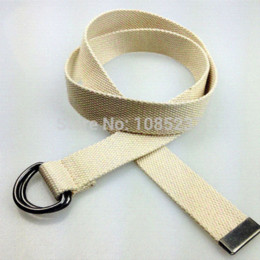 HOT sale 4 color choices belts for men and women active belt fabric canvas striped belts with D buckle belt free shipping