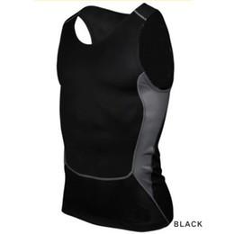 Capas base en venta-Hombres-Venta al por mayor compresión camiseta apretada Capa Base de fitness entrenamiento de la gimnasia chaleco de las tapas del tanque S-XXL caliente