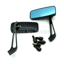 2*Alloy Motorcycle Rear View Mirrors 8mm 10mm Screw motorcycle mirrors blue glass motor mirror