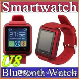 Wholesale 50X U8 Smartwatch Bluetooth Altimeter Anti lost Wrist Watches For iPhone Android Samsung S6 S7 HTC Sony Nokia Wearable Smart Watches A BS
