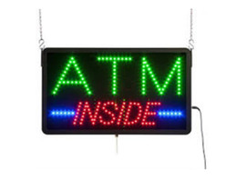 Wholesale 20PCS price x10 x0 Multicolor LED ATM Inside Sign Black Plastic Optionally Animated Come With POWER ON OFF Switch