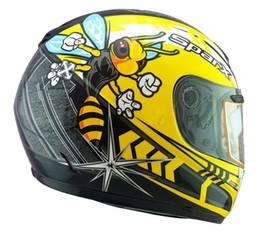 Wholesale ECE del PUNTO de Estados Unidos SPARX cascos de la cara llena casco de la motocicleta de carreras de motocicletas ABS S Hornet tamaño de las abejas amarillas L XL XXL