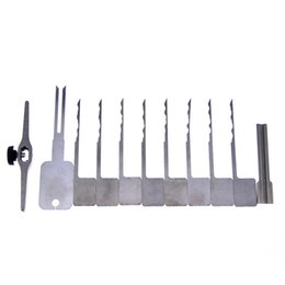 factory new models 11 pieces lock pick set for blade lock for Locksmith Supplies door pick tools SYG-059