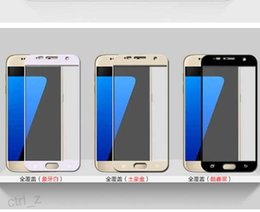 For Galaxy S7 Tempered Glass Samsung S7 Full Cover Protector Film Colorful RIM Tempered Glass Screen Protector