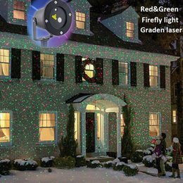 Outdoor IP65 Waterproof Laser Stage Light, Elf Christmas lights, LED laser light projector,Red Green Firefly Yark Decorations