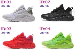 Wholesale 2016 New Fashion Mens Womens Air Huarache running shoes Comfort Mesh athletic Walking training sporting shoes sneakers size