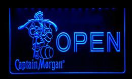 LS167-b OPEN Captain Morgan Beer Bar Neon Light Sign