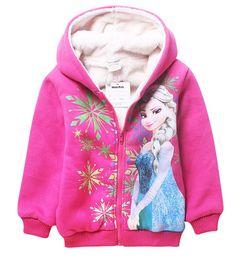 Wholesale HL Factory Price Elsa and Anna Winter warm velvet coat for girls Frozen