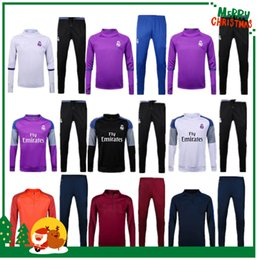 Wholesale 16 Real madrid Training clothes Soccer Jersey Ronaldo football Modric Kroos Sergio Ramos Bale Marcelo james Training Wear
