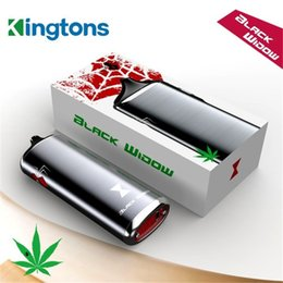 Wholesale 100 Authentic Kingtons Black Widow I060 Dry Herb Vaporizer Kit in herbal vaporizer WAX VS Flowermate Aura X MAX V2 DHL TZ703