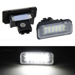 2pcs 18 LED Error Free Number License Plate Light Bulbs Car Light Fit For MERCEDE S W219 W211 W203 WAGON SLK-Class R171