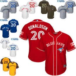 Wholesale Yellow white blue grey Josh Donaldson Authentic Jersey Youth Toronto Blue Jays All Star American League BP Cool Base