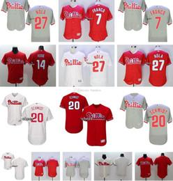 Wholesale Men s Mike schmidt Maikel Franco B J Rosenberg Aaron Nola Blank White Grey Flexbase Authentic jerseys Philadelphia Phil