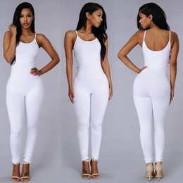 Wholesale Women Sexy halter pants Jumpsuit Solid bodycon Rompers Jumpsuit Catsuit bodysuit yoga clothes night club dress
