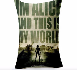 I am Alice this is my world Resident Evil hero Classic memory pillow massager decorative movie pillows euro cover home decor