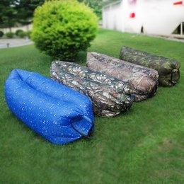 Wholesale Camo Inflatable Air Lounge Chair Bed PVC material Sleep Camping Bed with a Drawstring Bag as Package in Colors DOM106361
