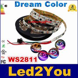2017 couleur de rêve magique DC12V WS2811 IC rêve Color Magic RGB 5050 LED Strip 30LED / m 60LED / m IP20 IP67 5m / lot bon marché couleur de rêve magique