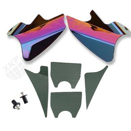 Wholesale Tawny and Iridium Reflective Saddle Shield Air Heat Deflector for Harley