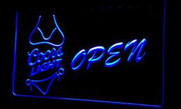 Ls250-b Coors Light Bikini Beer OPEN Bar Neon Light Sign