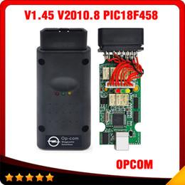 Wholesale 2016 HOT OPCOM V1 Free Technician Support OP COM OP COM with PIC18f458 chip v2010