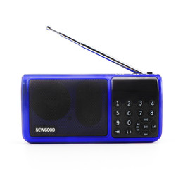 Wholesale AM SW FM radio subwoofer digital songs portable speaker with powerful battery and LED time display support