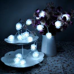 2017 luces de hadas blancas con pilas Creativa 20LED 2M con pilas luz de la secuencia blanco puro lindo del cono del pino del partido Inicio Encanto Hada Decoración barato luces de hadas blancas con pilas
