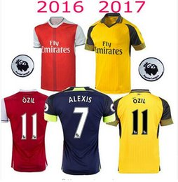 Wholesale 16 top thai quality Adult suit OZIL WILSHERE ALEXIS GIBBS WALCOTT CHAMBERS soccer jersey football jerseys shirts