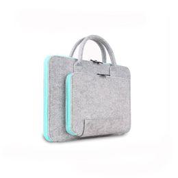 Wholesale Laptop bag macbookpro air11 quot felt laptop bag notebook computer bag case drop shipping Can be customized adding logo