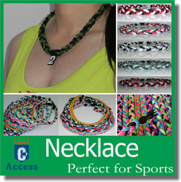 Wholesale baseball ropes tornado sports titanium necklace braided necklace bracelet