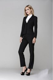 Wholesale-Business Suits for Work Wear Sets Formal Pant Suits Custom made Black Ladies Office Uniform Styles Pantsuits