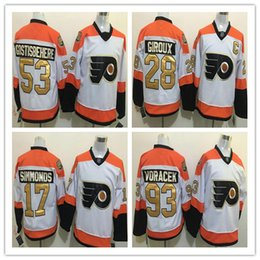 Wholesale Philadelphia Flyers Hockey Jerseys Cheap th Anniversary Claude Giroux Voracek Simmonds Gostisbehere Konecny Provorov