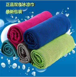 Wholesale 2016 Cool towel Summer cooling towels dual layer sports outdoor ice cold scaft scarves Pad quick dry washcloth necessity for Fitness Yoga