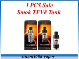 Wholesale 1pcs Sale Smok TFV8 Full Kit Smok Electronic Cigarette Sub Ohm Tank Fit Smok H Priv W TC Box Mod snow wolf mod