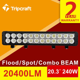 Wholesale Strip Lights For Trucks - Long distance 20.3 Inch 240W LED Light Bar for Off Road Indicators Work Driving Offroad Car Truck 4x4 SUV Fog led strip
