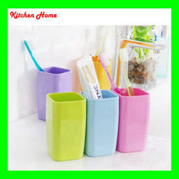 Creative Bothroom Toothbrush Cup Square Shape Wash Gargling Cup Creative Toothbrush Holder Toothbrush Mug bathroom wash gargle cup