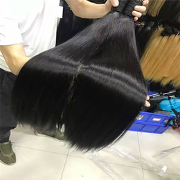 Hot Selling 100% Human Hair Bulks Unprocessed Human Hair 18-30Inch Natural Color Silky Straight Hair Free Shipping Factory Price Wholesale
