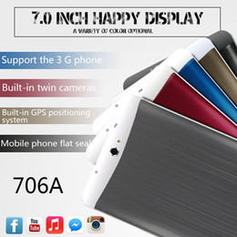 3G Tablet PC 7 Inch Screen MTK6572 Dual core 1GB 4G Phablet Tablets pc Android Bluetooth GPS wifi Dual Camera With sim card slots phone call