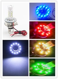 Wholesale H4 cree led w smd motorcycle headlamps car Headlights Refit LED Angel Eyes Daytime Running Lights smd mm Devil Eyes