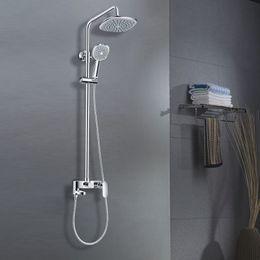 Wholesale double Shower head SPA Water saving square Spray Rain Top Rain Shower Heads Hand held Shower Head Bathroom Accessories Set