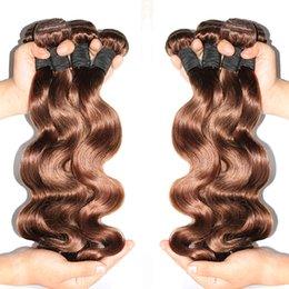 Brazilian Hair Body wave 3pcs Lot Brazilian Human Hair Weave Bundles Brazilian Brown Hair Extensions