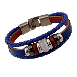 Fashion Lucky Womens Leather Charms Bracelets Toggle-clasps Design Punk Hip Hop Rock Jewelry Bangles For Sale