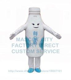 Wholesale advertising pure fresh milk mascot costume adult size cartoon milk drink theme costumes carnival fancy dress